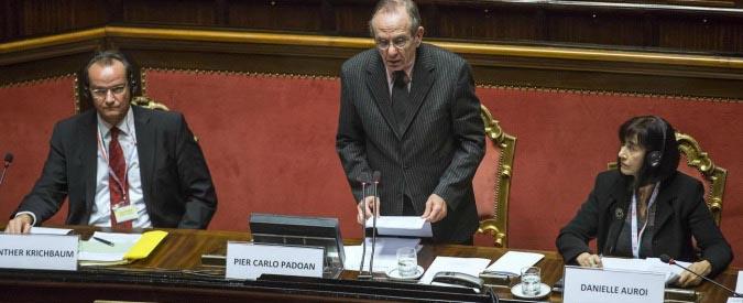 Pier Carlo Padoan interviene alla 52ma riunione plenaria della COSAC