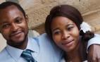 """Emmanuel Chidi Namdi, il 36enne nigeriano richiedente asilo in coma irreversibile a Fermo dopo un pestaggio da parte di un ultrà 35enne della Fermana, che prima aveva insultato la moglie dandole della """"scimmia africana"""". Lui e la sua compagna Chinyery, di 24 anni, erano arrivati al seminario vescovile di Fermo, che accoglie profughi e migranti, lo scorso settembre. ANSA/ PER GENTILE CONCESSIONE DI IL REDATTORE SOCIALE ++HO - NO SALES EDITORIAL USE ONLY ++"""